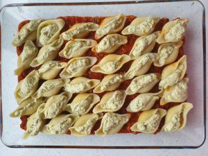 Stuffed Pesto Pasta Shells with Sweet Italian