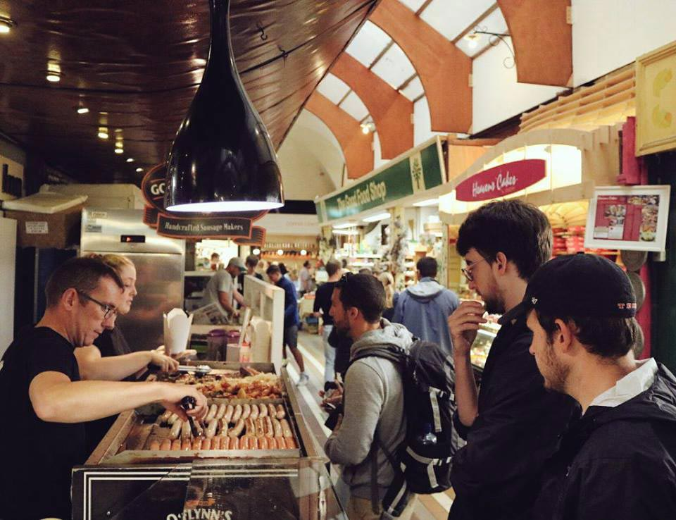 The Queue at the English Market Stall